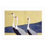 el) del 部分 del (del 群鶴図屏風, 其一 Cranes (detalle), Postales