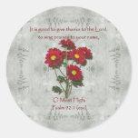 El ~ del 92:1 del salmo da gracias al señor pegatinas redondas