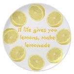 El ~ del buen consejo hace la limonada platos para fiestas
