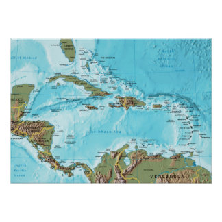 El del Caribe (mapa) Posters