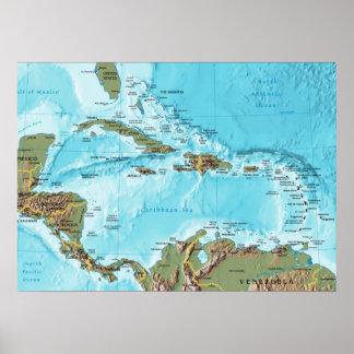 El del Caribe (mapa) Póster