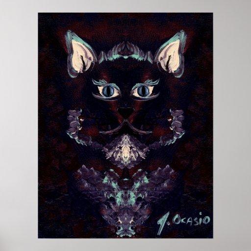 El ~ del CAT de la SOMBRA (diseño del minino) Posters