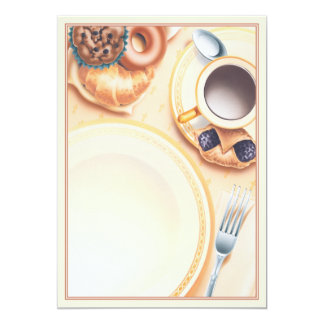 """El © del club del desayuno invitación 5"""" x 7"""""""