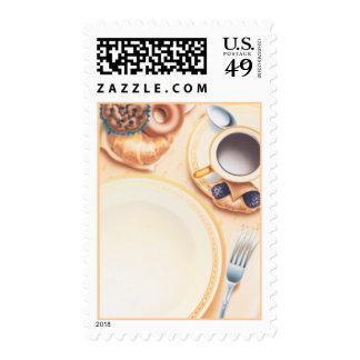 El © del club del desayuno timbres postales
