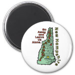 El ~ del lema de New Hampshire NH sale y sale de n Imán