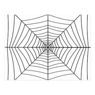 El ~ del WEB de ARAÑA (un diseño negro y blanco) Postales