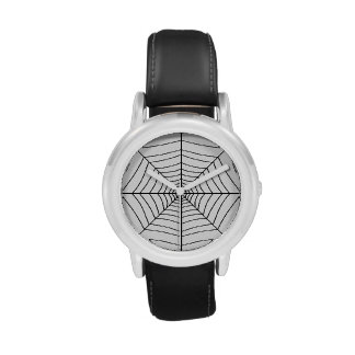 El ~ del WEB de ARAÑA (un diseño negro y blanco) Reloj