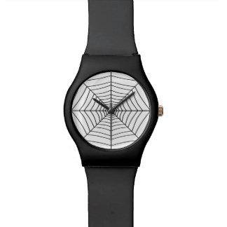 El ~ del WEB de ARAÑA (un diseño negro y blanco) Reloj De Mano