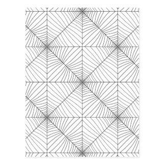 El ~ del WEB de ARAÑA (un diseño negro y blanco) Tarjeta Postal