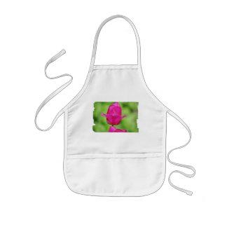 El delantal de los niños bonitos de los tulipanes