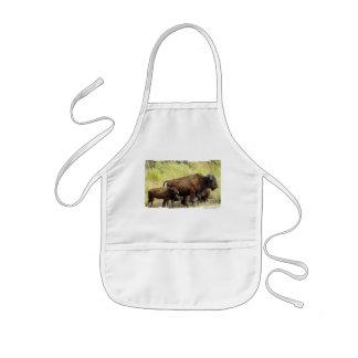 El delantal de los niños de itinerancia del búfalo