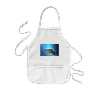 El delantal de los niños del tiburón