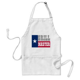El delantal del Bbq del Texan para la parrilla dom