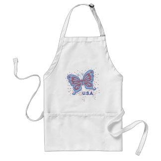 El delantal del cocinero de la mariposa de los E.E