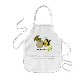 El delantal del niño lindo de la abeja ocupada