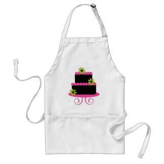 El delantal del panadero con gradas de la torta