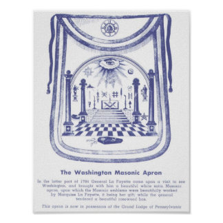El delantal masónico de George Washington Póster