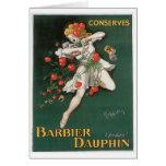El delfín de Barbier conserva arte del anuncio de  Tarjetas