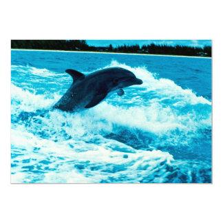 """El delfín de Bottlenose (truncatus) del Tursiops, Invitación 5"""" X 7"""""""