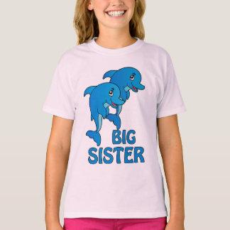 El delfín de la hermana grande de los delfínes poleras