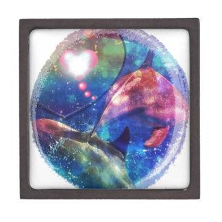 El delfín dulce soña arte de la fantasía cajas de recuerdo de calidad