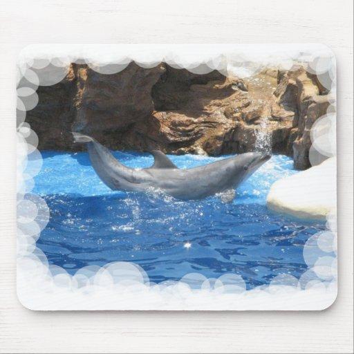 El delfín engaña el cojín de ratón alfombrillas de raton