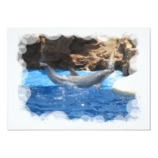 El delfín engaña la invitación invitación 12,7 x 17,8 cm