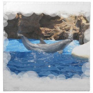 El delfín engaña la servilleta