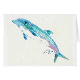 El delfín le agradece cardar tarjeta de felicitación