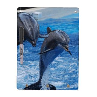 El delfín que salta al tablero seco del borrado tableros blancos