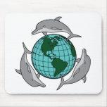 El delfín recicla tapete de ratones