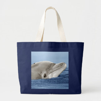 El delfín sonriente bolsa tela grande