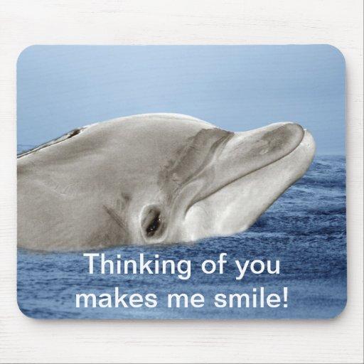 El delfín sonriente tapetes de ratones