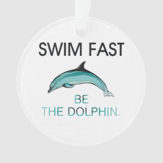 El delfín SUPERIOR de la nadada ayuna