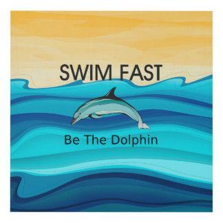 El delfín SUPERIOR de la nadada ayuna Cuadro