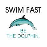 El delfín SUPERIOR de la nadada ayuna Esculturas Fotograficas