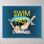 El delfín SUPERIOR de la nadada ayuna Impresiones