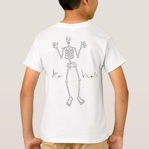 el dem deshuesa la parte posterior del esqueleto T Remeras