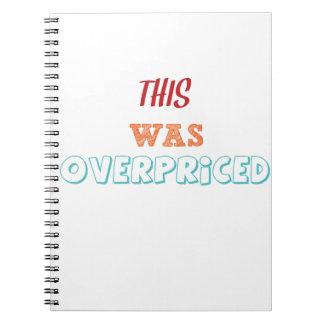 El demasiado caro cuaderno