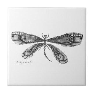 """El """"Demoiselle"""" es una libélula Azulejo Cuadrado Pequeño"""