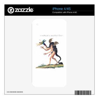 El demonio Asmoday Skins Para eliPhone 4
