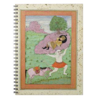 El demonio blanco que lleva de dormir Rustam, Notebook