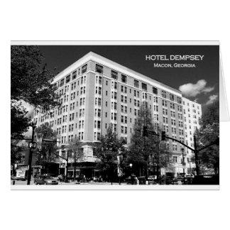 EL DEMPSEY DEL HOTEL, MACON, GEORGIA TARJETA DE FELICITACIÓN