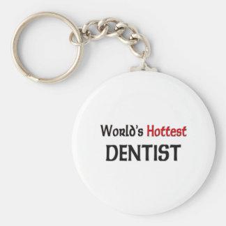 El dentista más caliente de los mundos llavero redondo tipo pin