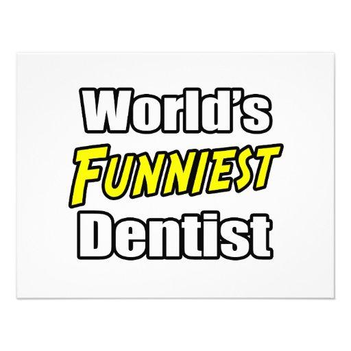 El dentista más divertido del mundo invitacion personalizada