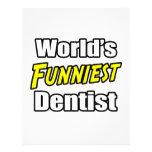 El dentista más divertido del mundo membrete personalizado