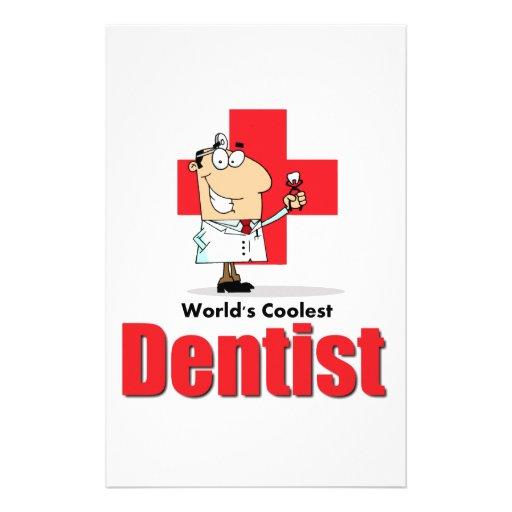 El dentista más fresco del mundo papeleria personalizada