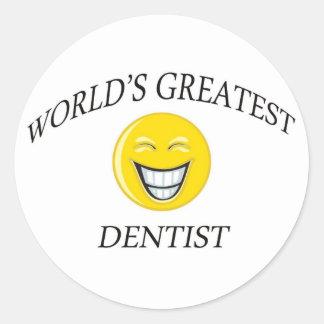 El dentista más grande del mundo etiqueta redonda