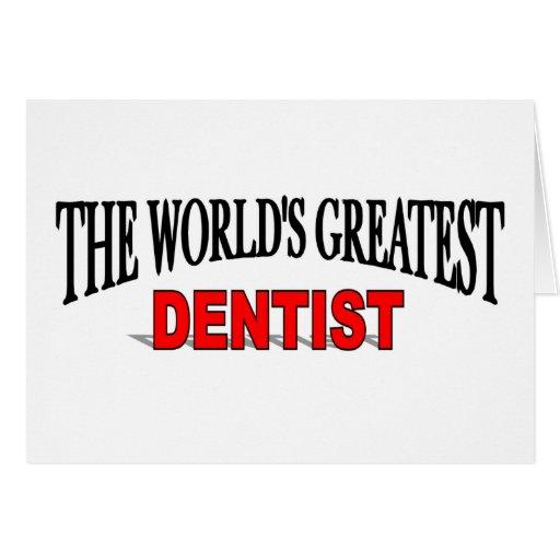 El dentista más grande del mundo tarjeta
