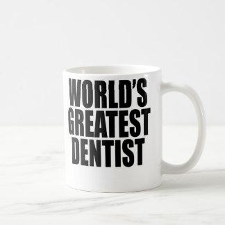 El dentista más grande del mundo taza básica blanca